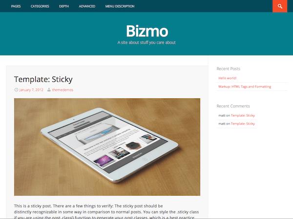 Bizmo-theme-Free-WordPress