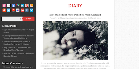 Diary-WordPress-Gratis-Theme