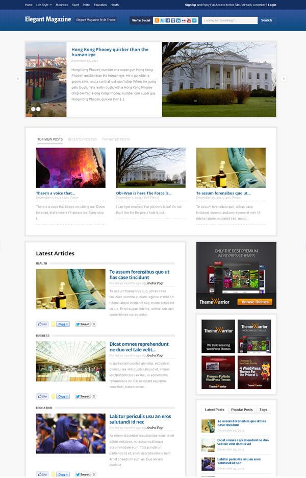 Elegant-Magazine-News-Tema-Free-Versione