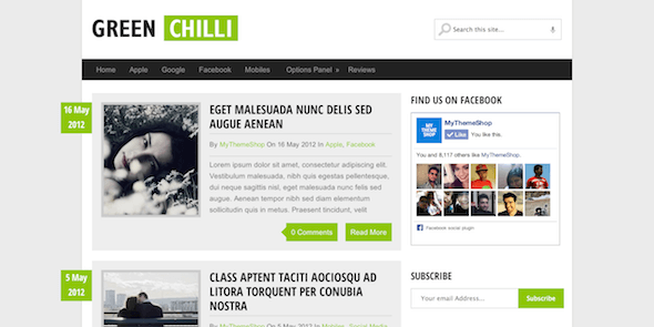GreenChilli-WordPress-Tema-Gratis