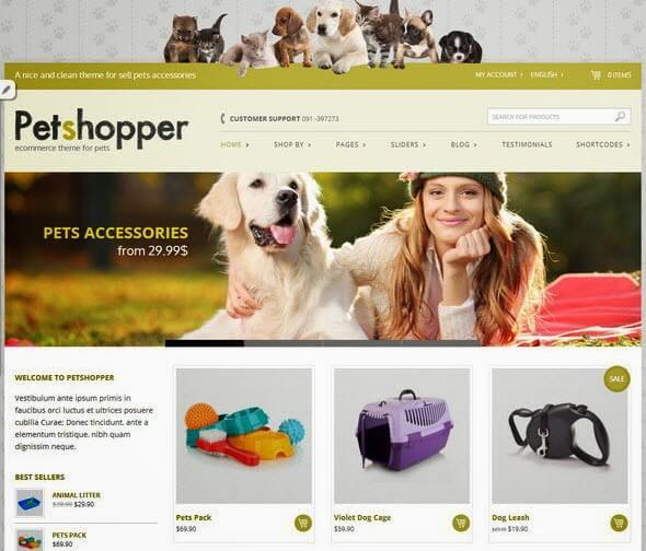 PetShop-eCommerce-Theme-Free-WordPress