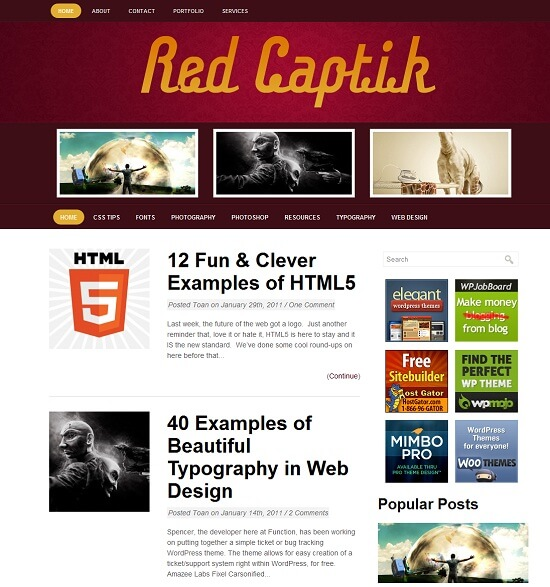 RedCaptik-wordpress-tema-free