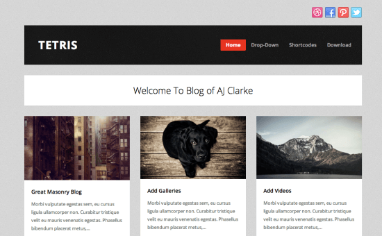 Tetris-WordPress-theme-Free-Gratis