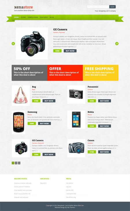 XenaStore-Template-WordPress-Gratis-eCommerce