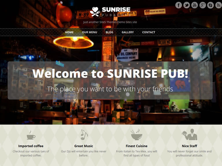 template-wp-gratis-sunrise